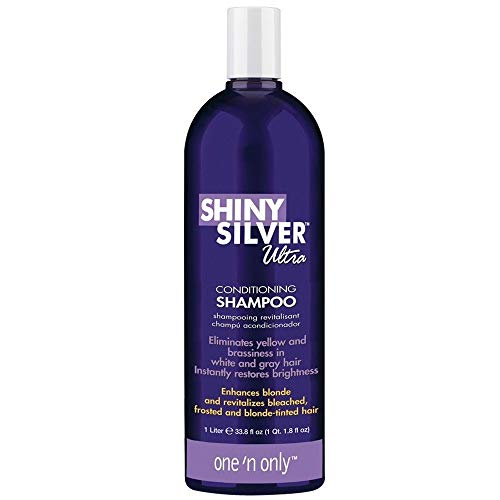One 'n Only Shiny Silver Ultra Conditioning Shampoo 33.8 fl. oz. (Shampoo Gray Remove Hair)