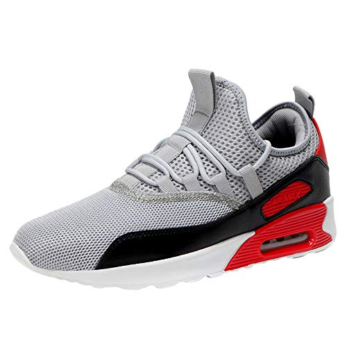 - Mens Casual Athletic Sneakers Comfortable Running Shoes Light Tennis Zapatos Footwear for Men Walking Workout Red