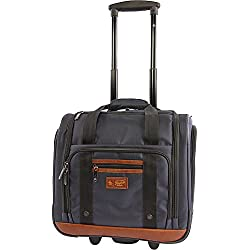 "ORIGINAL PENGUIN Wheeled Under the Seat Carry on Bag-16"", Navy"