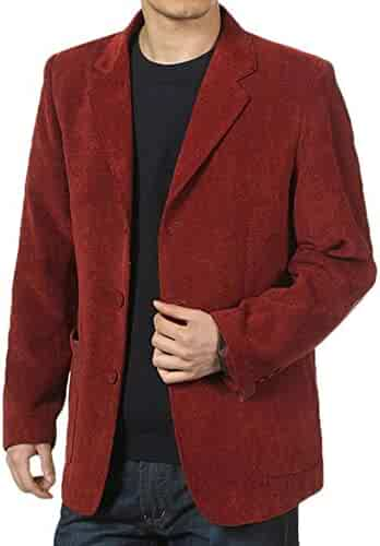 a1a11c1a8dc Frieed Mens Three-Button Elbow Patch Sport Coat Casual Corduroy Blazer Suit  Jackets
