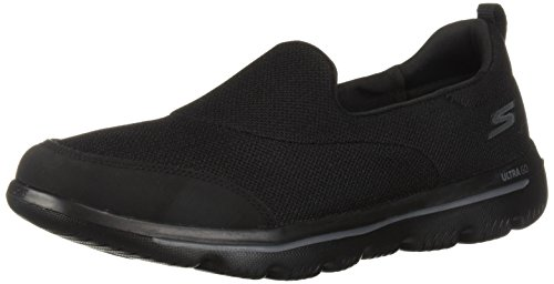 Skechers Women's GO Walk Evolution Ultra Rapids Sneaker, Black, 7.5 M US