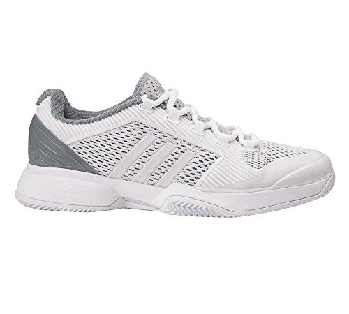 Adidas Asmc Barricade 2016 Clay, Zapatillas de Tenis para Mujer Blanco / Gris (Blanco / Blanco / Orofue)