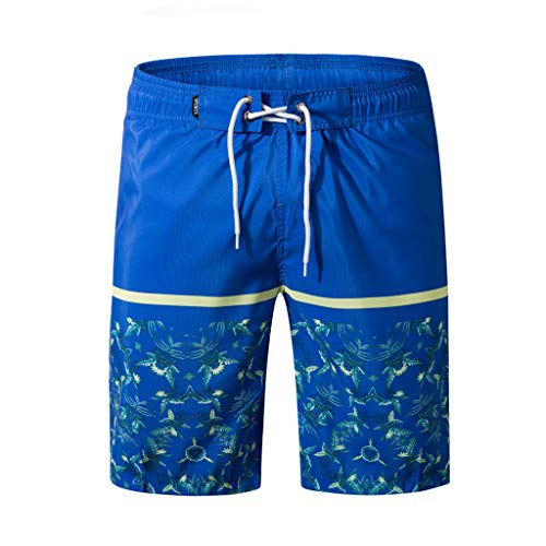 Pervobs Men's Breathable Stretchy Shorts Swim Trunks Quick Dry Beach Surfing Running Swimming Watershort(5XL, Blue)
