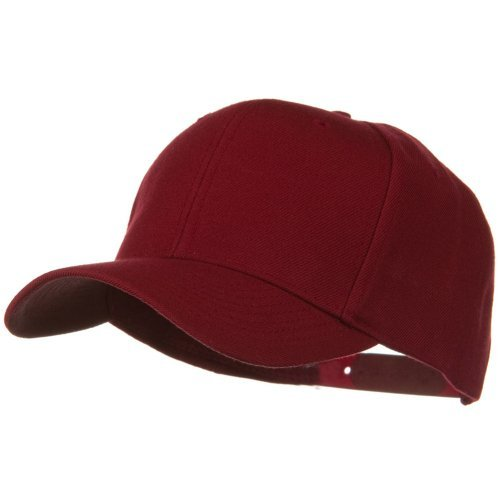 Otto Caps Solid Wool Blend Prostyle Snapback Cap - Burgundy