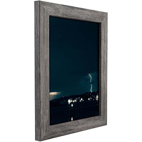 Craig Frames 26030 11 by 14-Inch Picture Frame, Smooth Grain Finish, 1.26-Inch Wide, Gray - Frame Distressed Wood