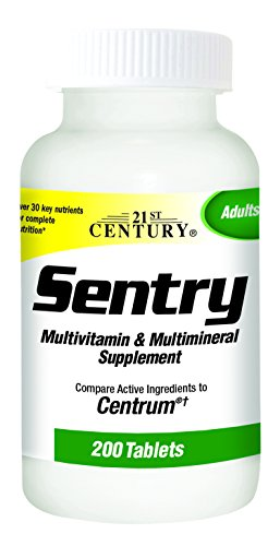 21st Century Sentry Tablets, 200 Count - Tablet 21st Vitamins Century