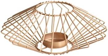 北欧のスタイルクリエイティブな近代的なミニマリスト幾何学的な錬鉄製の燭台ホームベッドルームの燭台 (Size : 19x6cm)