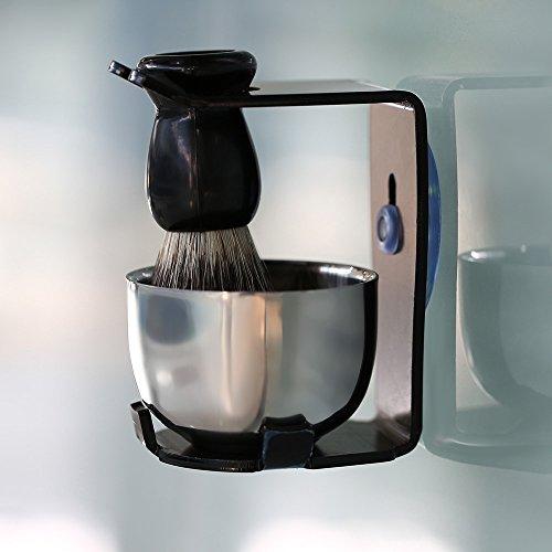 Men Shaving Razor Set Badger Hair Shaving Brush+Stand Holder Face Beard Shaving Kit Soap Bowl Cleaning Brush