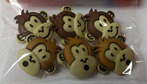 Sewology Silly Monkeys Button - Button Monkey