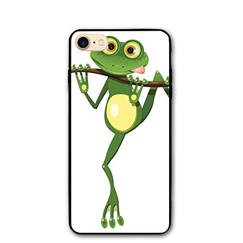 Haixia iPhone 7/8 Cover Case 4.7 inch Animal Decor Little Frog On Branch The Tree in Rainforest Nature Jungle Life Artsy Earth Full Green White Yellow ()