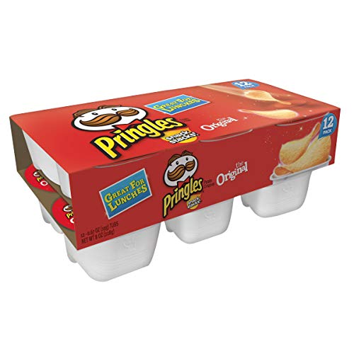 Pringles Snack Stacks Potato Crisps Chips, Original Flavored, 8 oz (12 Cups)