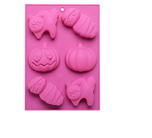 FantasyDay Halloween Pumpkin Mummy Cat Silicone Mold Chocolate Wafer Mold Ice Cube Tray for Holiday Chocolate, Muffin Cups, Wafer, Cake Toppers, Bath Bombs, Soaps and More #1 -