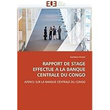 RAPPORT DE STAGE EFFECTUE A LA BANQUE CENTRAL