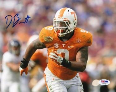 Derek Barnett Signed Photograph - 8x10 9 Hologram horizontal orange jersey  run) - PSA 37ea22a724a7c