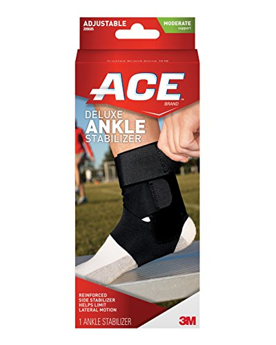 ACE Brand Deluxe Ankle Stabilizer, America's Most Trusted Brand of Braces and Supports, Money Back Satisfaction Guarantee - Ace Brace