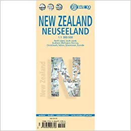 New Zealand North Island Road Map.New Zealand Laminated Road Map 1 1 300 000 Amazon Co Uk Borch Maps