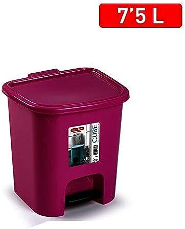 7,5 L, pl/ástico Plastic Forte marr/ón Cubo de Basura para Cocina 7.5L