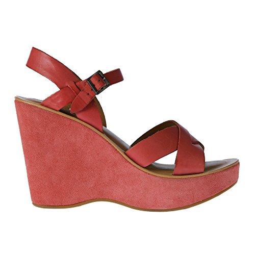 Zeppa Shoes Box 8515i Woman Sandas Sandalo Donna ease No Rosa Kork RqRxTfg