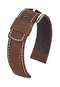 HIRSCH Active 14502110-2-22 - Correa para reloj, piel, color marrón