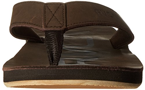 Flip Dark Brown Synthetic RVCA Federal flop Sandals wfxBWtqF1