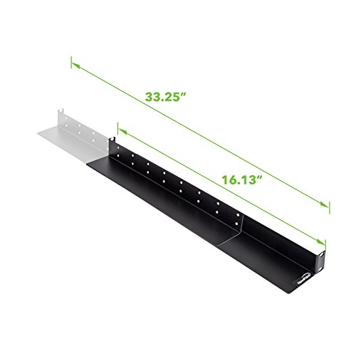 NavePoint 1U Rack Mount 4-Post Shelf Rail Full Depth - 33.5'' deep by NavePoint