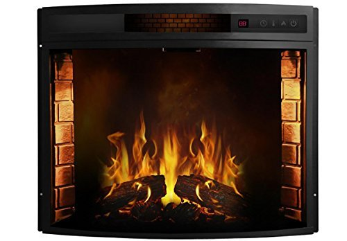Cheap Moda Flame MFSD2026 Elwood Curved Electric Fireplace Insert-26 Black Friday & Cyber Monday 2019