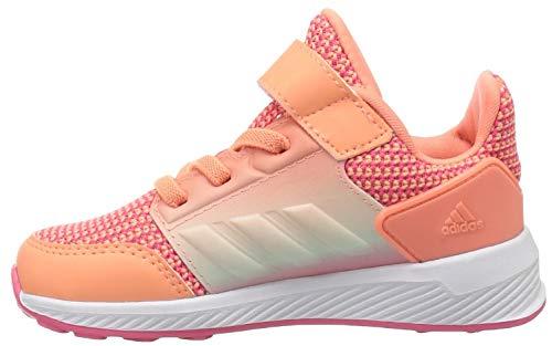 adidas Originals Baby Rapidarun Running Shoe, Chalk Coral/White/Real Pink, 4K M US Toddler ()