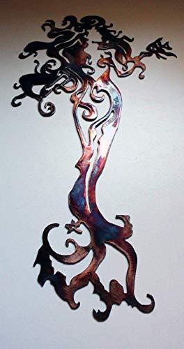 (Mermaid Standing Tall Metal Wall Art 18