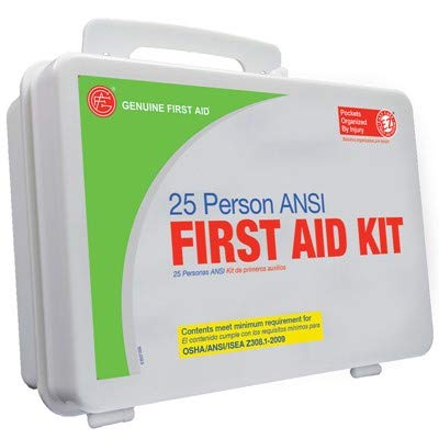 Genuine First Aid Easy Access 25 Person ANSI First Aid Kit