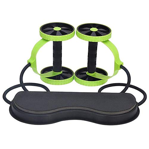 Glomixs Fitness Wheels Roller, Elastic Abdominal Muscle Resistance Pull Rope for Training Exercise Home Gym Equipment…
