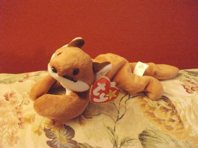 (VINTAGE BEANIE BABIES SLY BORN SEPT 12 1996 W TAG)