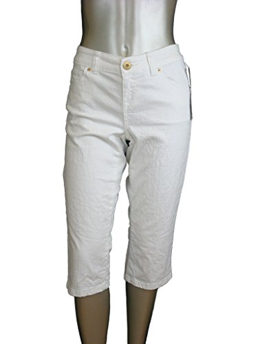 UPC 883355993445, INC International Cpts Women's Curvy Fit Denim Capris White 2