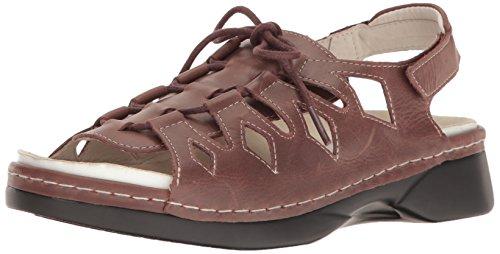 (Propet Women's Ghilliewalker Platform Dress Sandal, Brown, 7.5 W US)