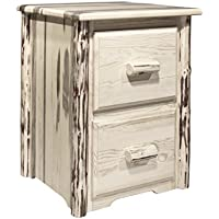 Montana Woodworks MWFC2V Montana Collection 2-Drawer File Cabinet, Clear Lacquer Finish