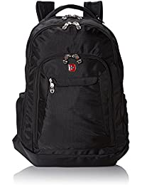 SA9998 Black Laptop Backpack - Fits Most 15 Inch Laptops and Tablets