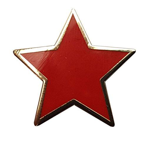 (Plain Red Star pin badge)