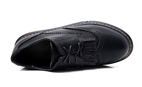 Chaussures Noir à pour de 36 Ville Lacets Femme EU 5 Noir Minotta dq8pwd