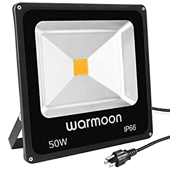 Warmoon LED Flood Lights Super Bright 150W Waterproof Outdoor Daylight White Security Lighting for Garden, Lawn, Tennis Field, Football Field, Basketball Field