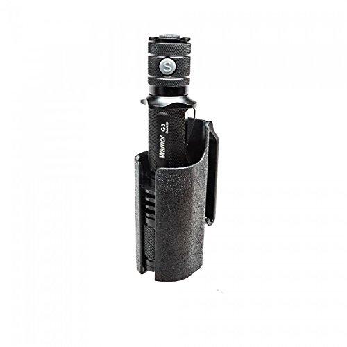 Bundle: PowerTac Warrior Gen III 1050 Lumens LED (CREE XM-L2 U2) Tactical Flashlight with 18650 3400mAh USB Rechargeable Kit