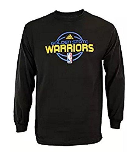 Golden State Warriors NBA Mens Long Sleeve Tee Shirt, Black