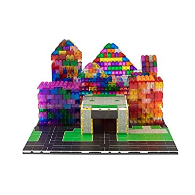 Strictly Briks - City Building Tile Set - 100% Compatible with All Major Brands - 256 2x2 Textured Tiles for Creative Play - Baseplate and 3D Briks Not Included: Toys & Games