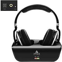Casque sans Fil pour TV, ARTISTE ADH300 Écouteurs sans Fil TV 2,4 GHz avec Station de Charge, Plug & Play, 100 ft, No...