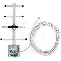 Verizon/AT&T LTE 4G 700MHz 10dBi Gain Outdoor Directional Yagi Antenna with SMA male Connector 10m/32.8ft Cable for Phone Repeater
