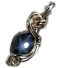 Star Sapphire Pendant 14k Gold - Fill Midnight Blue w/necklace Jewelry 119g3-4