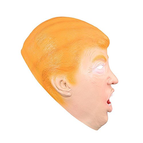 AMPERSAND SHOPS Halloween Dress Up Cosplay Donald Trump Lifelike Realistic Latex Mask One Size -