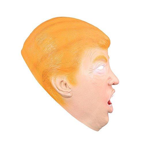 AMPERSAND SHOPS Halloween Dress Up Cosplay Donald Trump Lifelike Realistic Latex Mask One Size Adult