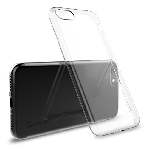 LUVVITT Ultra Slim iphone 7 funda/iphone funda de 8 con Flexible y fácil agarre TPU goma para Apple Iphone 7 (2016) y iPhone 8 (2017) – transparente