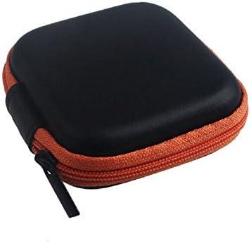 Gespout ヘッドホンケース 収納ポーチ pc周辺小物用 おしゃれ 保護ボックス 小物 ストレージバッグ ヘッドホン メッシュ キャリング 収納バッグ 財布 多機能 ハードドライブケース