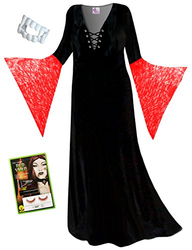 Sanctuarie Designs Red Vampiress Plus Size Halloween Costume