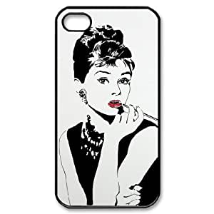 C-EUR Customized Print Audrey Hepburn Pattern Back Case for iPhone 4/4S